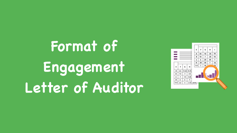 Format of Engagement Letter of Auditor