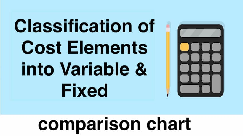Classification of Cost Elements into Variable & Fixed