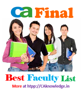 CA Final Best Faculty List 2016 caknowledge