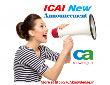 ICAI New Announcements