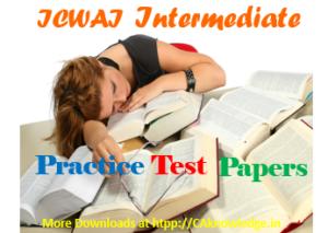 ICWAI Intermediate Practice Test Papers June 2014