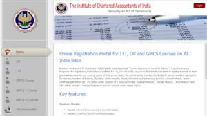 online Registration portal ITT, GMCS, OP