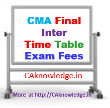 CMA Exam Time Table