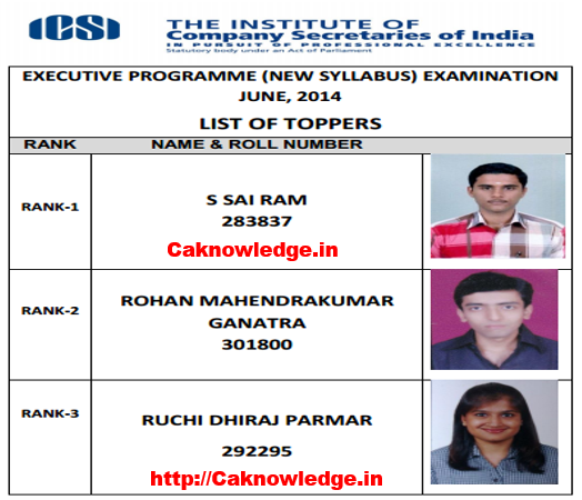 CS Executive Toppers June 2014 New Syllabus