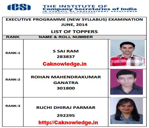 CS Executive Toppers June 2014 New Syllabus