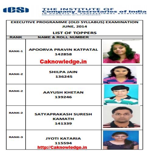 CS Executive Toppers June 2014 old Syllabus