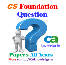 CS Foundation Question Papers