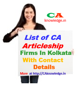 CA Inter Articleship Firms in Kolkata