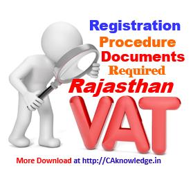 Rajasthan Sales Tax Registration