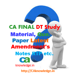 CA Final Direct Tax Notes, Study Material