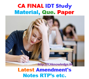 CA Final Indirect Tax Study Material, Notes