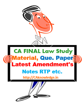 CA Final Law Notes for Nov 2014