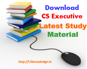 CS Executive Study Material new Syllabus