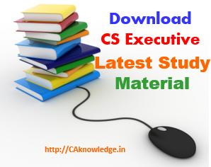 CS Executive Latest Study Material New Syllabus
