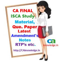 ca final ISCA Notes, Amendments