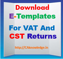 Raj Tax E-Templates for VAT and CST Returns