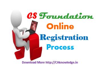 CS Foundation Online Registration Process