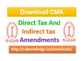CMA Amendments CAknowledge.in