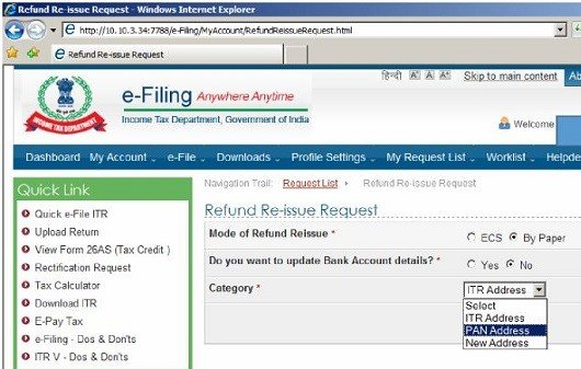 income Tax Refund CAknowledge.in