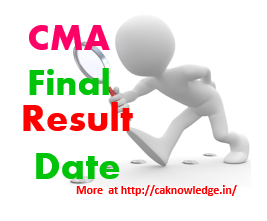 CMA Final Result Date