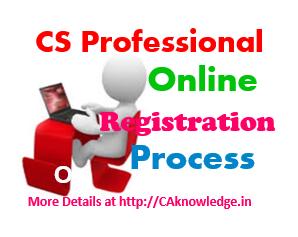 CS Professional Online Registration Process