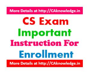 CS Exam Important Instructions for Exam Form June 2016