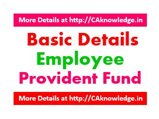 Basic details - Employee Provident Fund