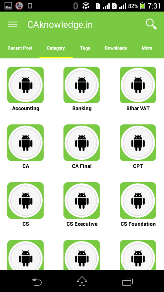 CAknowledge.in Android App Categories