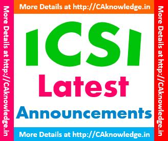 ICSI Latest Announcmenst CAknowledge.in