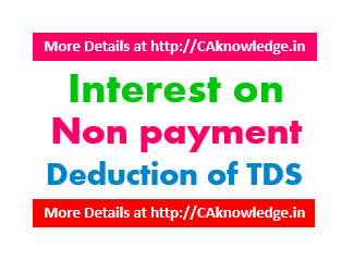 Interest on Non Payment or Non Deduction of TDS