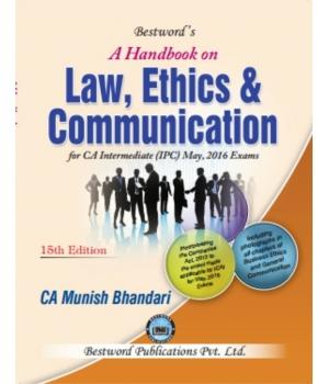 CA IPCC Law Book By Munish Bhandari For May 2016