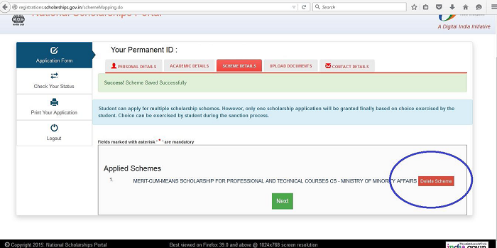 Screenshot 2 ICSI Scholarship