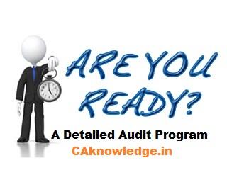 Audit Program - A Detailed Audit Program