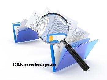 Audit Program for In depth Scrutiny of Ledgers CAknowledge
