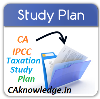 CA IPCC Taxation Study Plan CAknowledge