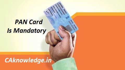 PAN Card is Mandatory CAknowledge