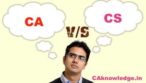 Comparison Between CA Course and CS Course, CA vs CS