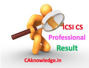 ICSI CS Professional Result