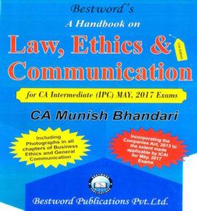 CA IPCC Law Handbook By Munish Bhandari For May 2017