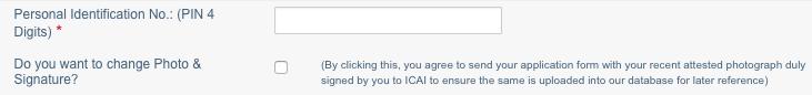 ICAI Exam Form