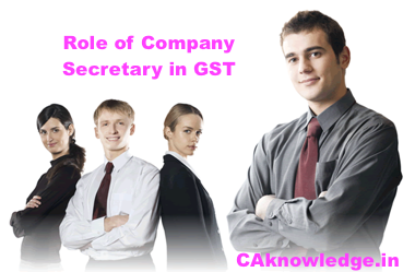 Role of Company Secretary in GST, Role of CS in GST