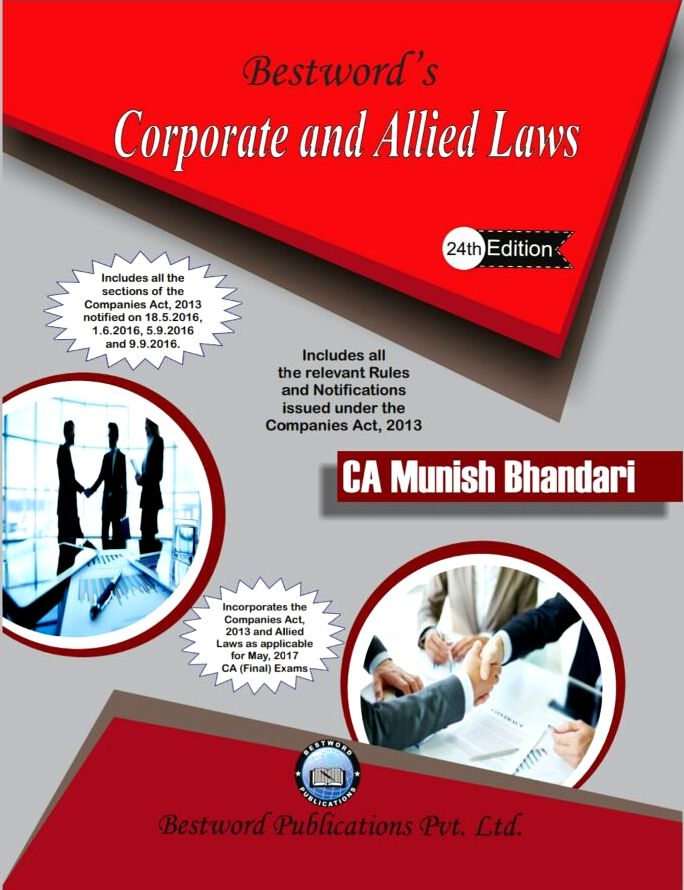 CA Final Law Book By Munish Bhandari For May 2017