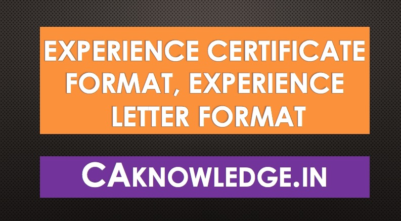 Experience certificate format experience letter format in doc experience certificate format experience letter format yadclub Image collections