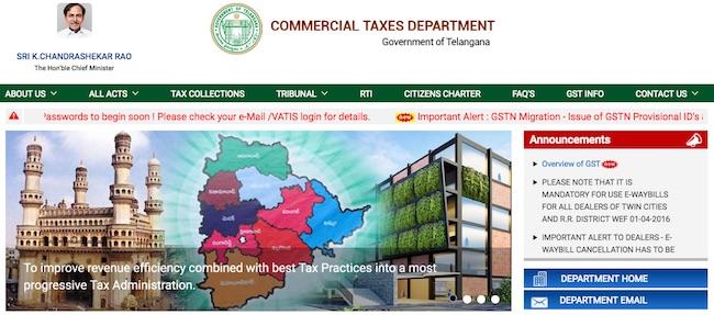 GST Registration Procedure for Existing Telangana VAT Dealers