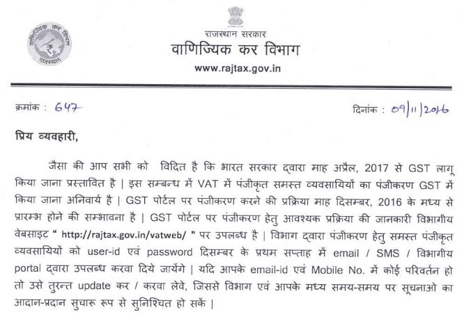 GST Registration in Rajasthan