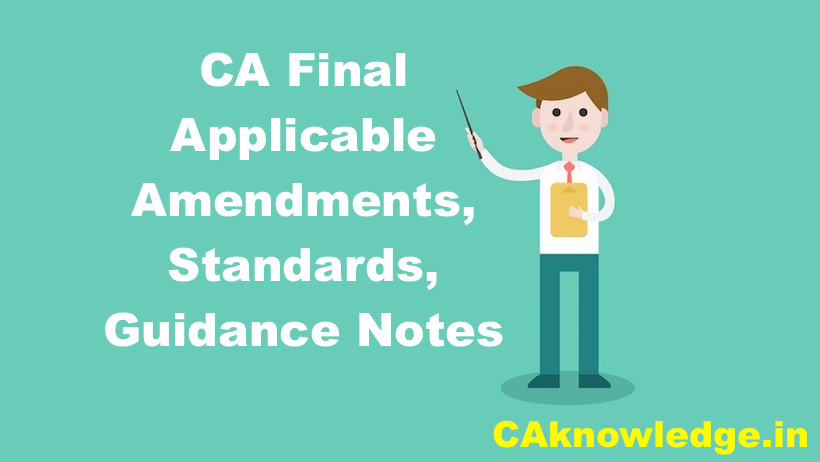 CA Final Applicable Amendments, Standards