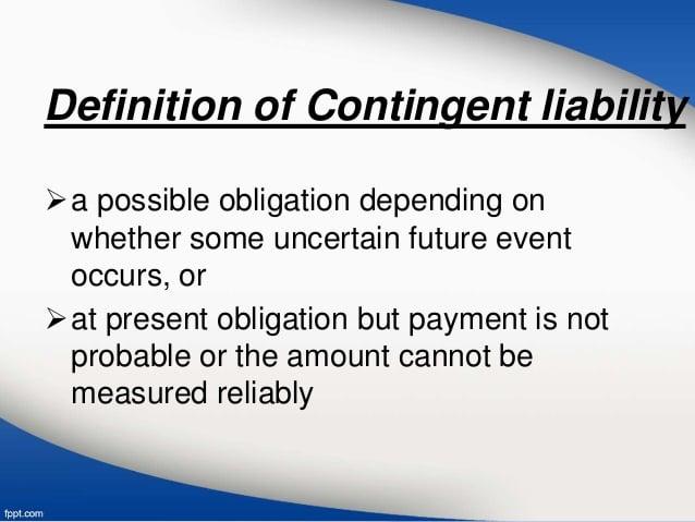 Contingent Liability