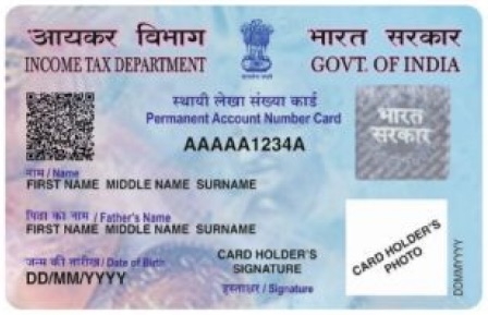 New Design of PAN Card with Aadhaar No