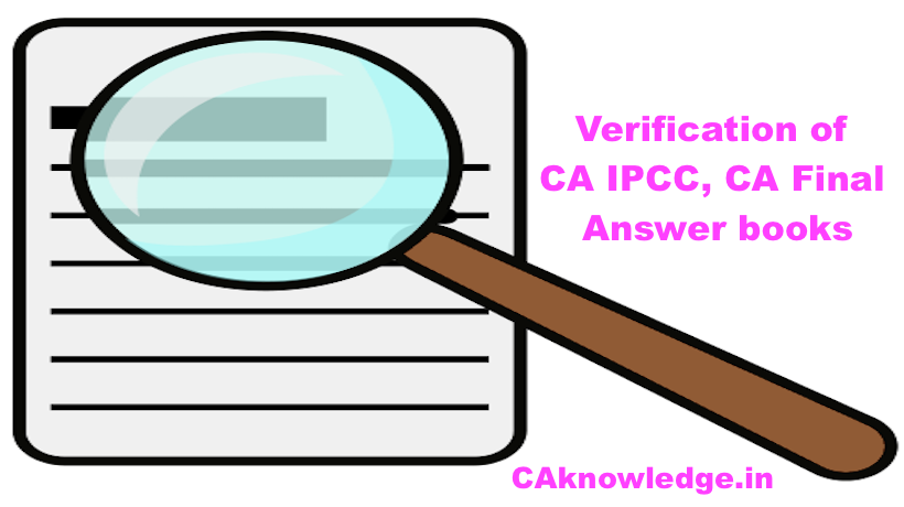 Verification of CA IPCC, CA Final Answer books