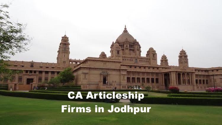 CA Articleship Firms Jodhpur